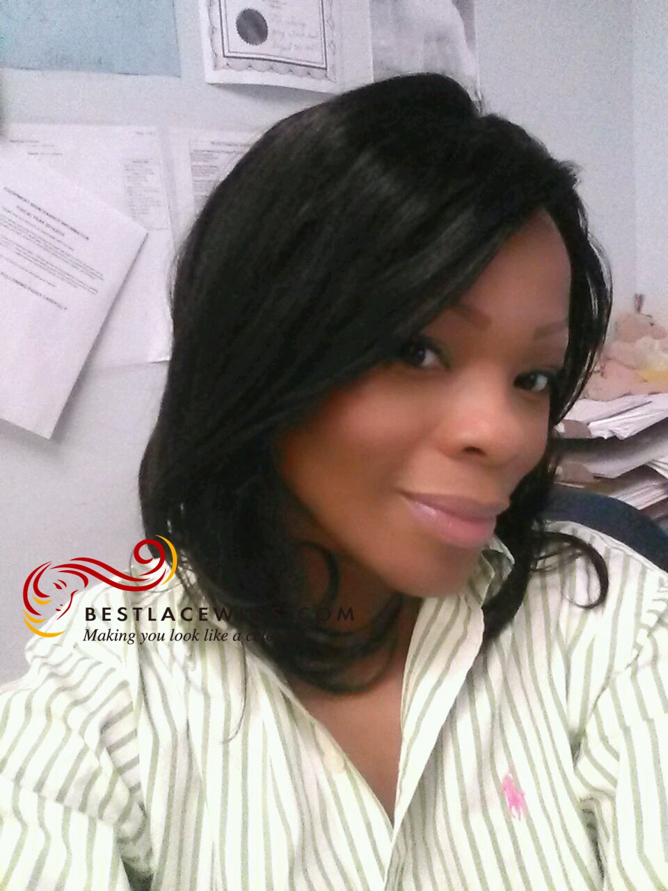 Glueless Full Lace Wigs Straight Indian Remy Hair [GSW122]