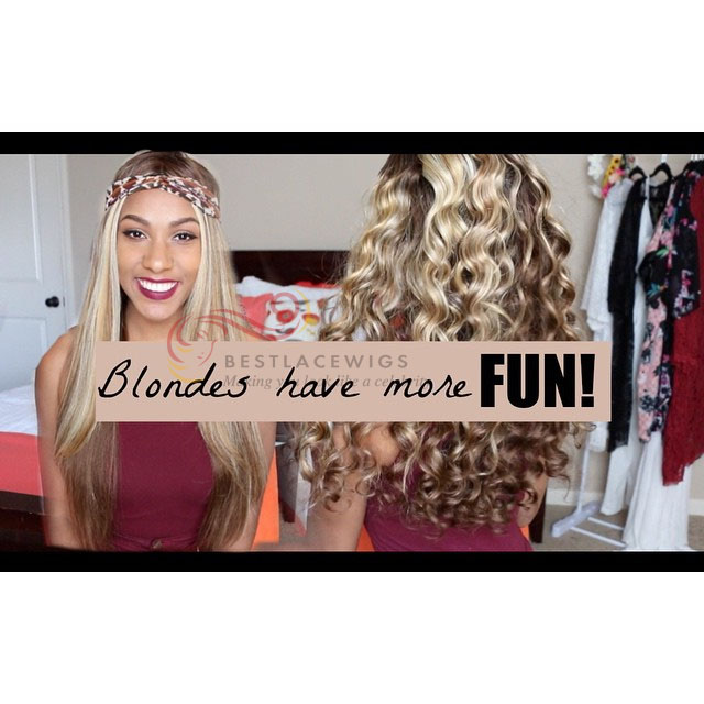 Ciara Celebrity Glueless Full Lace Wigs Wavy Virgin Human Hair [GSW300]