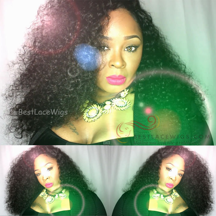 Ivy Dear Inspired Curly Hair Glueless Full Lace Wigs Indian Remy Hair [GSW490]