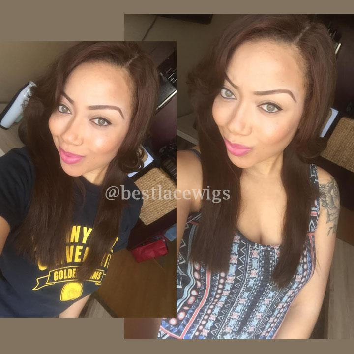 Indian Remy Hair Lace Front Wigs Deep Wave [SW087]