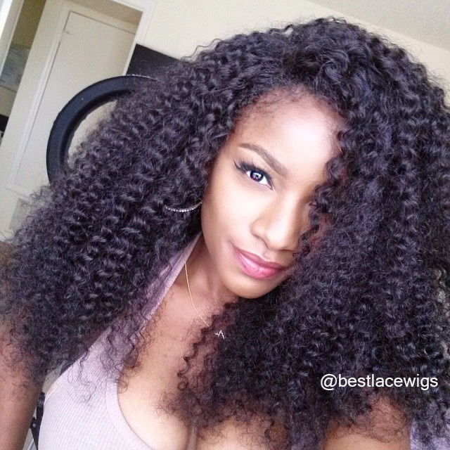 Water Wave Indian Remy Hair Glueless Lace Front Wigs [SW089]