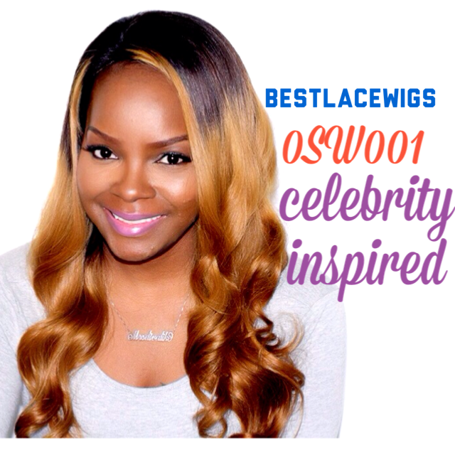 Jessica Wavy Style Ombre Celebrity Lace Wigs With Virgin Human Hair