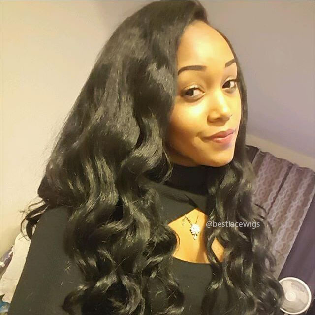 Kinky Straight Virgin Indian Hair 2 Bundles Weaves with One Lace Closure [MW77]