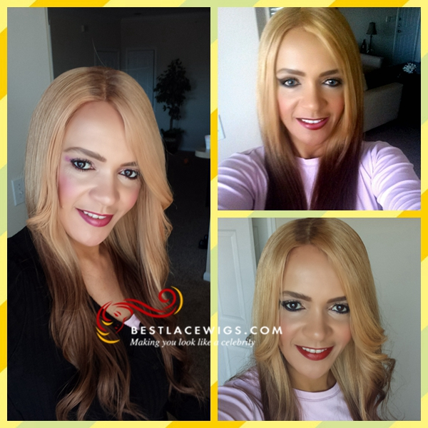 Lace Front Wigs Straight Indian Remy Hair [SW080]