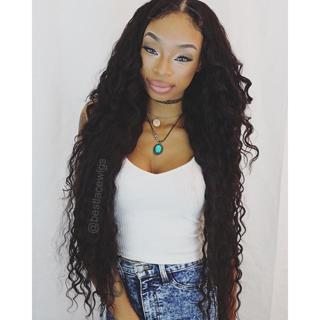 middle part lace closure with 3pcs virgin brazilian hair weaves