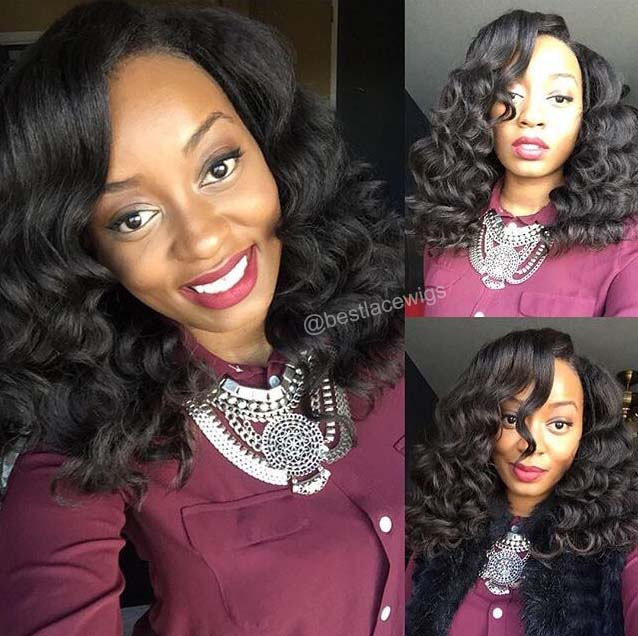 Middle Part Lace Closure With 3Pcs Virgin Brazilian Hair Weaves Kinky Straight [MW73]