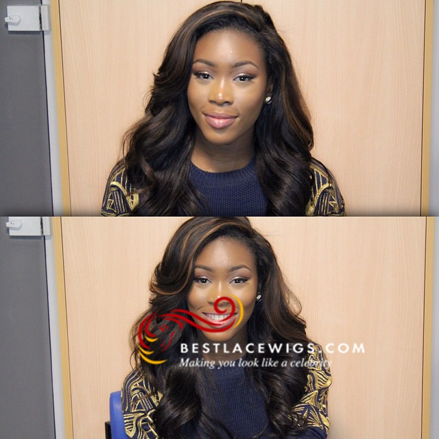 Middle Part Lace Closure With Virgin Brazilian Body Wave 4Pcs Hair Weaves