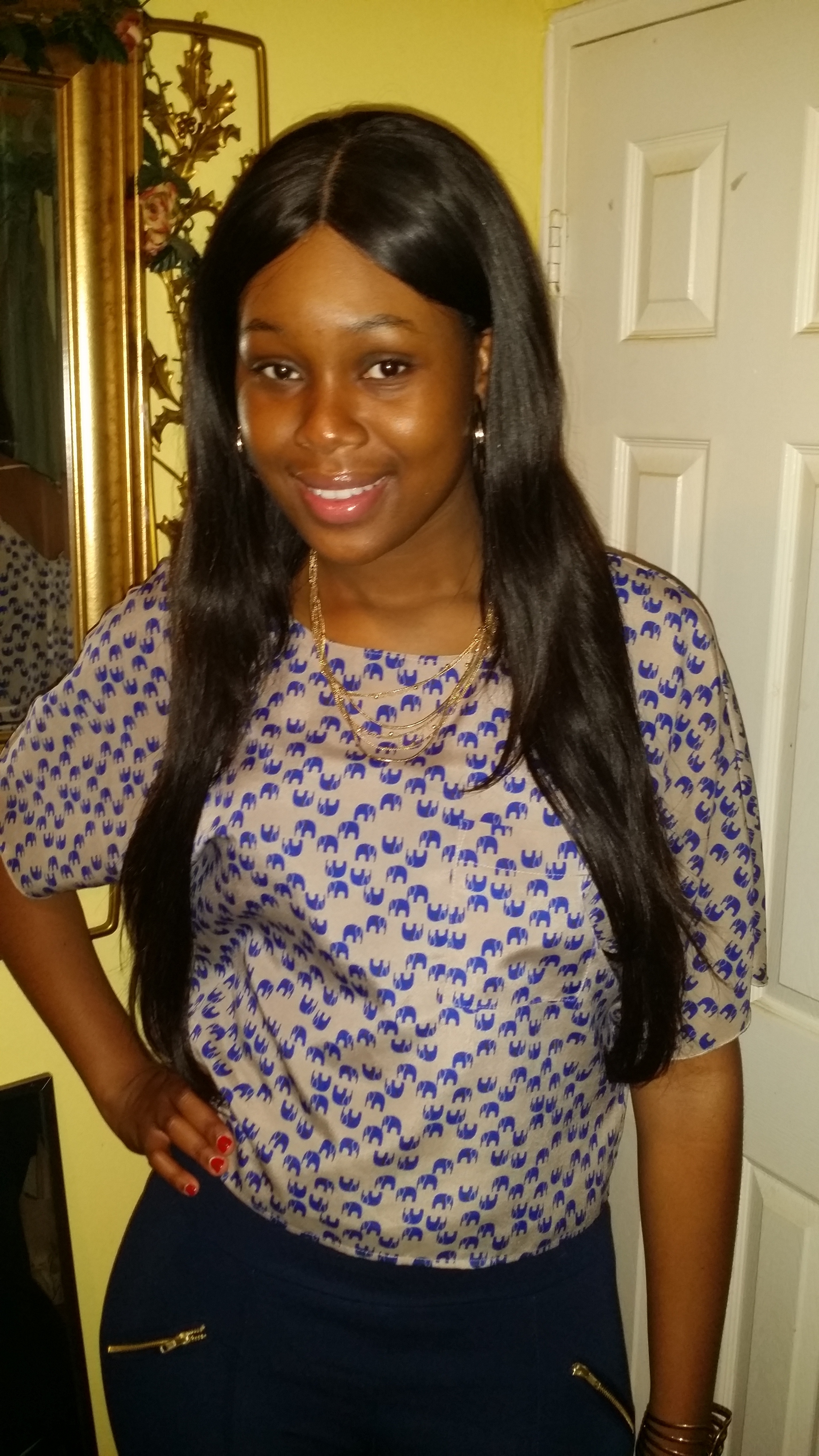 Middle Part Lace Closure With Virgin Brazilian Straight 4Pcs Hair Weaves