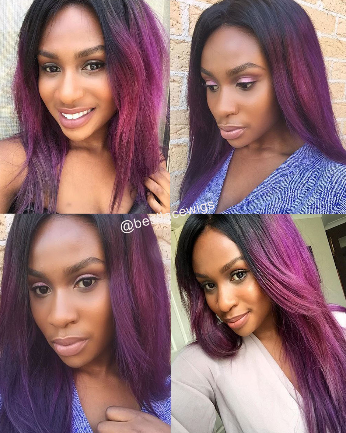 Straight Virgin Brazilian Hair Weaves 3Pcs With 1Pc Lace Closure [MW01]