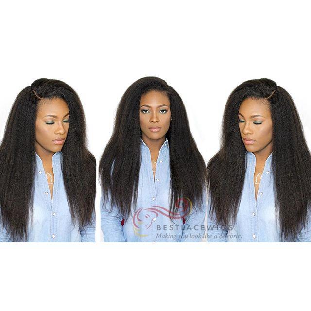 Virgin Brazilian Hair Bundle Sale 3Pcs Kinky Straight Hair Extenisons
