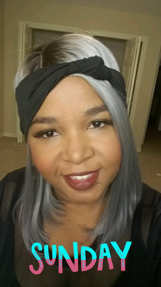 Best grey ombre lace front wig