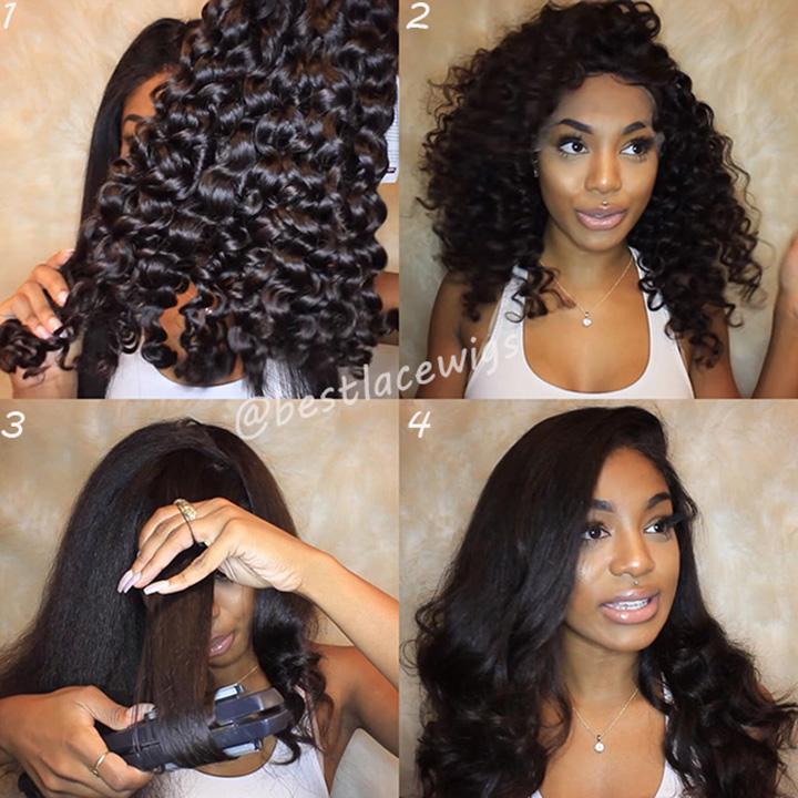 curly hair transformation