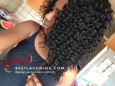 Water Wave Clip In Hair Extensions With Virgin Chinese Hair [CLIP55]